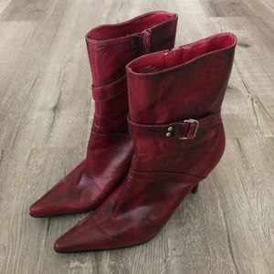 Nine West Red Distressed Boots